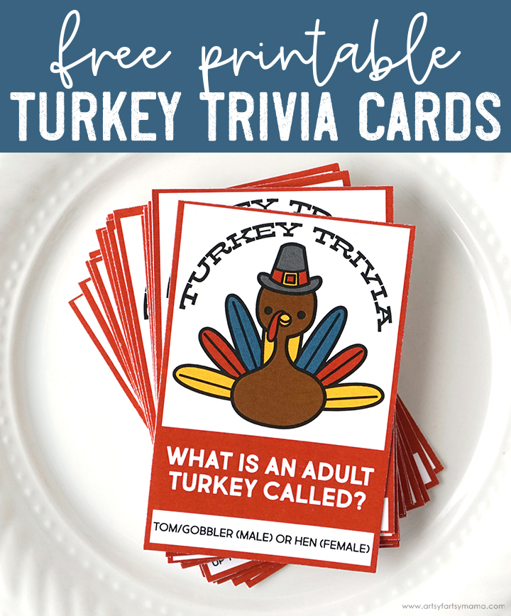 Free Printable Thanksgiving Turkey Trivia Cards