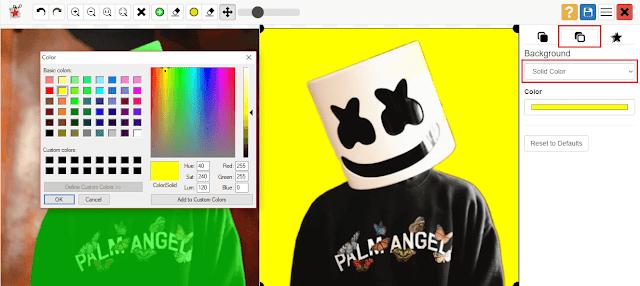 edit background foto PhotoScissors