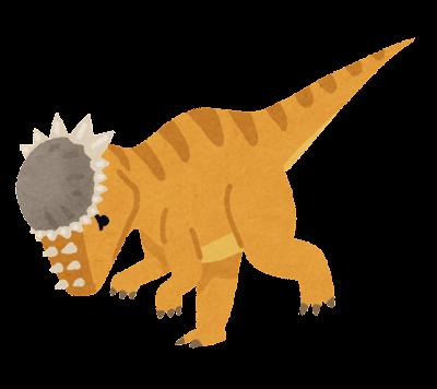 パキケファロサウルスのイラスト(恐竜)
