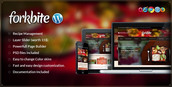 free download forkbite food recipe and restaurant theme free
