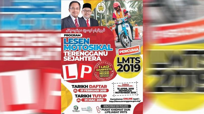 Pabila Penaku Menari Permohonan Lesen Motosikal Terengganu