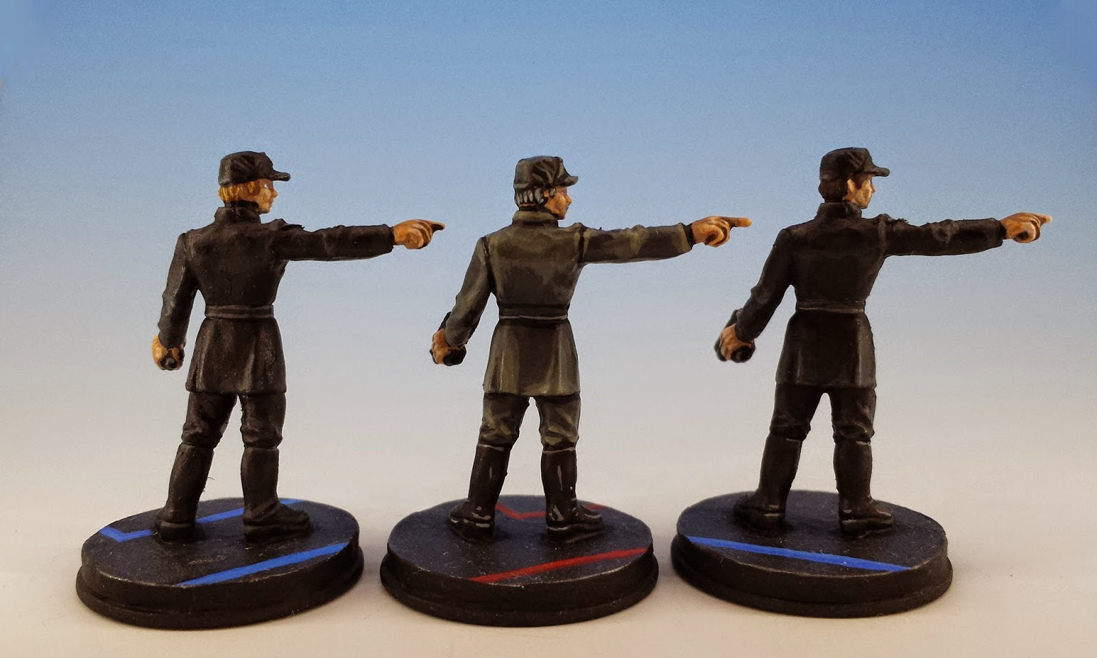 Imperial Officers, Fantasy Flight Games (2014, sculpted by Benjamin Maillet, painted by M. Sullivan) (rear)