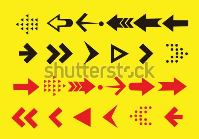 illustration design set arrow icon