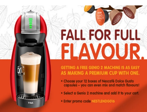 canadian daily deals nescafe free dolce gusto machine promo. Black Bedroom Furniture Sets. Home Design Ideas