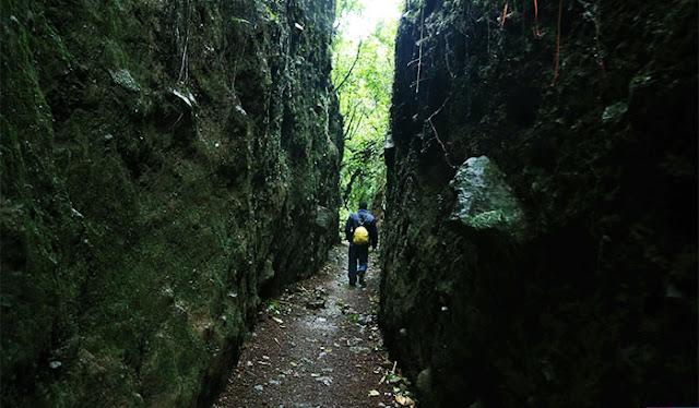 Uno de ellos es Sendero del Cratter, de un kilómetro y medio de largo. Después de elegirlo, visitará cuatro plataformas de observación, podrá observar las fumarolas, dar un paseo por el túnel formado por la lava.