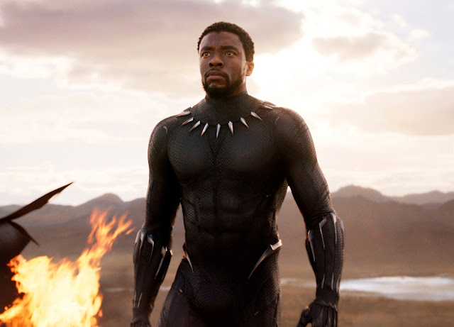 "Mr. Boseman in ""Black Panther."" It was the first major superhero movie with an African protagonist and a majority Black cast.Credit...Marvel Studios/Disney, via Associated Press"