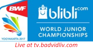 BWF World Junior Championships 2017 (Mixed team and Individual) live streaming