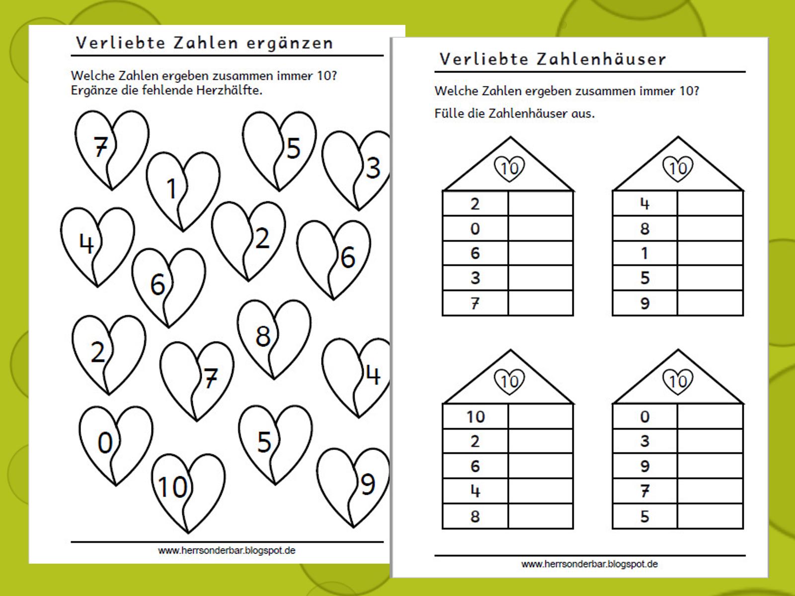 Herr Sonderbar Verliebte Zahlen Übungsheft