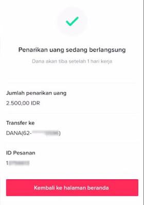 cara transfer saldo tiktok ke dana