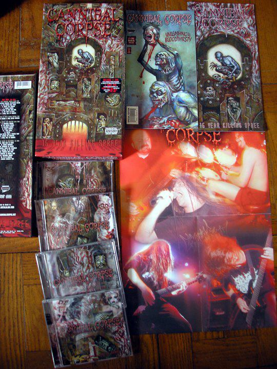78a339f00a4 666 Metal Extremo  Cannibal Corpse - 15 Year Killing Spree (box set ...