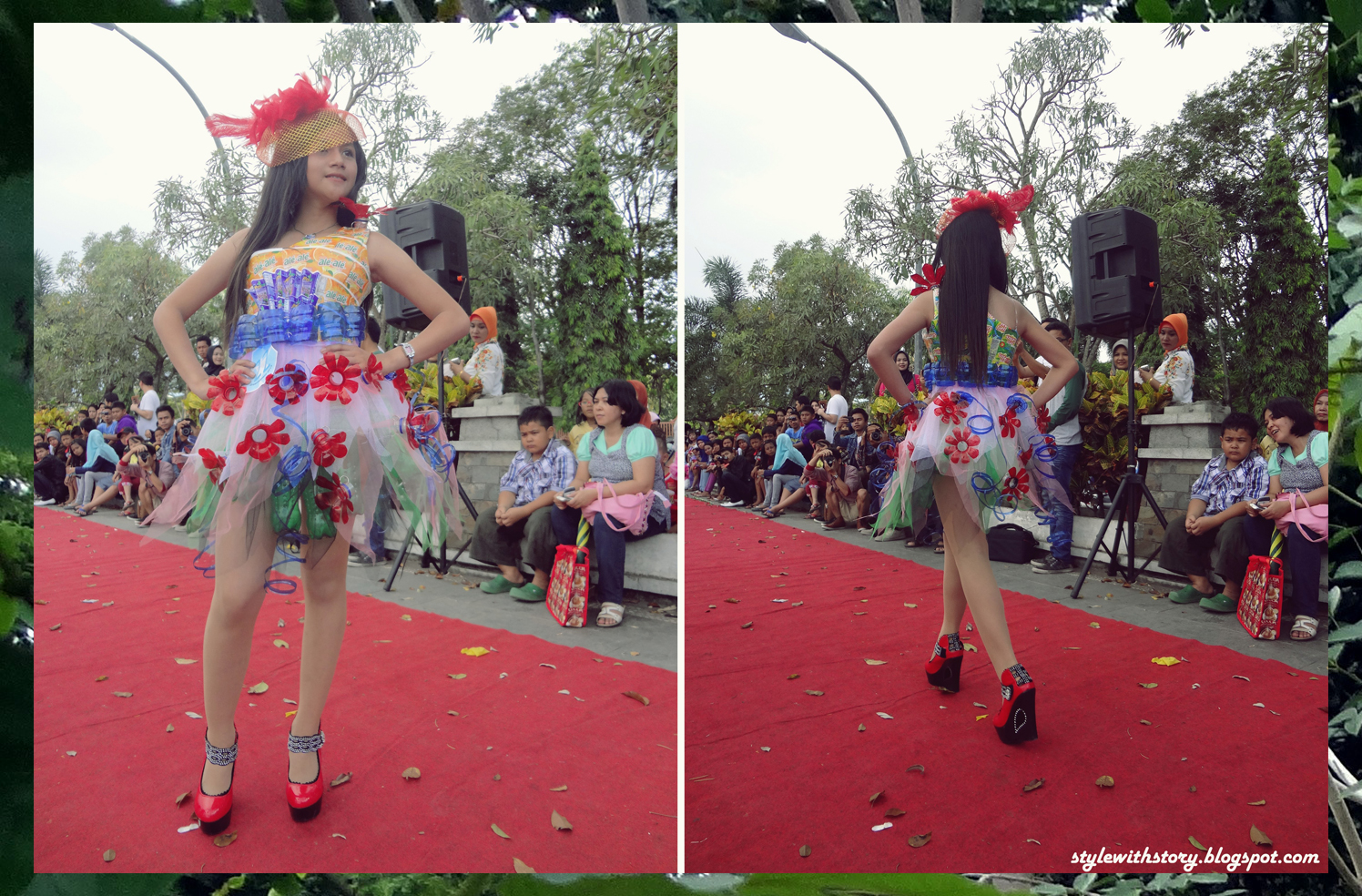 Desain Baju Dari Barang Bekas Style With Story Green Fashion On Red Carpet