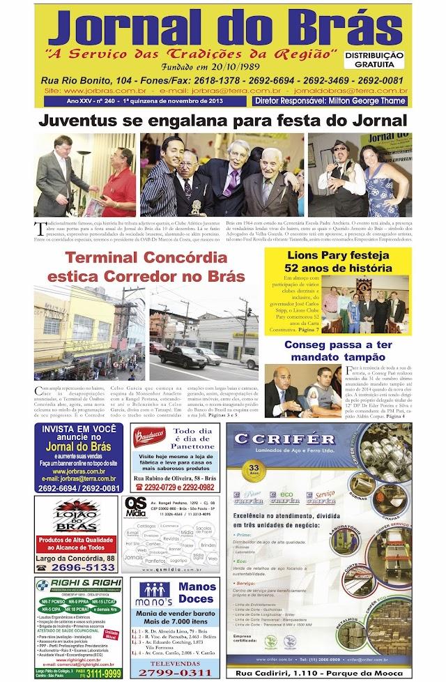 Destaques da Ed. 240 - Jornal do Brás