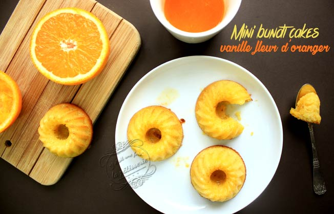 mini bundt cake orange