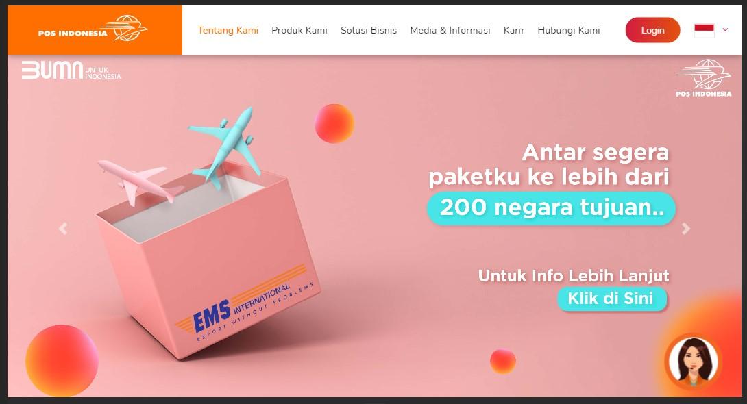 layanan paket internasional di POS Indonesia