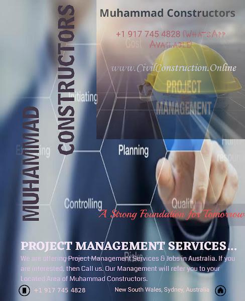 Project Management Services in Dandenong, Australia, Muhammad Constructors - Call +1 (917) 745-4828