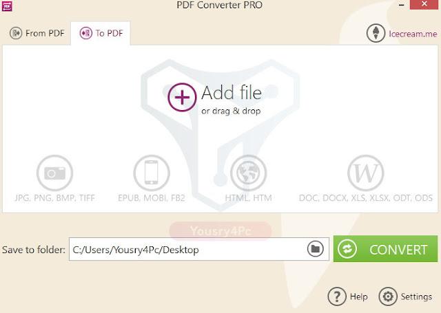 تحميل Icecream PDF Converter Pro لتحويل ملفات PDF لجميع الصيغ