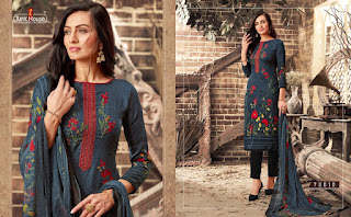 Tunic House Kreeti Pashmina Salwar Kameez Collection At Diwan Fashion Surat-www.Diwanfashion.com