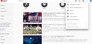 Tutorial cara mengubah Lokasi Video Trending pada Aplikasi Youtube Ke Negara lain