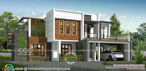 Box model 4 bedroom modern house architecture