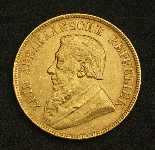 Transvaal Republic Heavy Gold 1 Pond Coin  1898