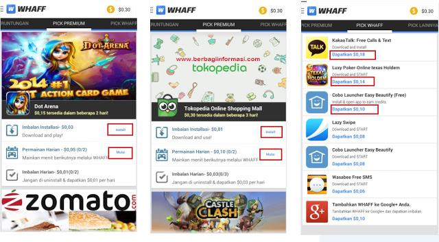 cara dapat uang dari Whaff Rewards