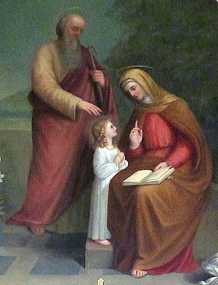 Child Mary with St Joachim and St Anne