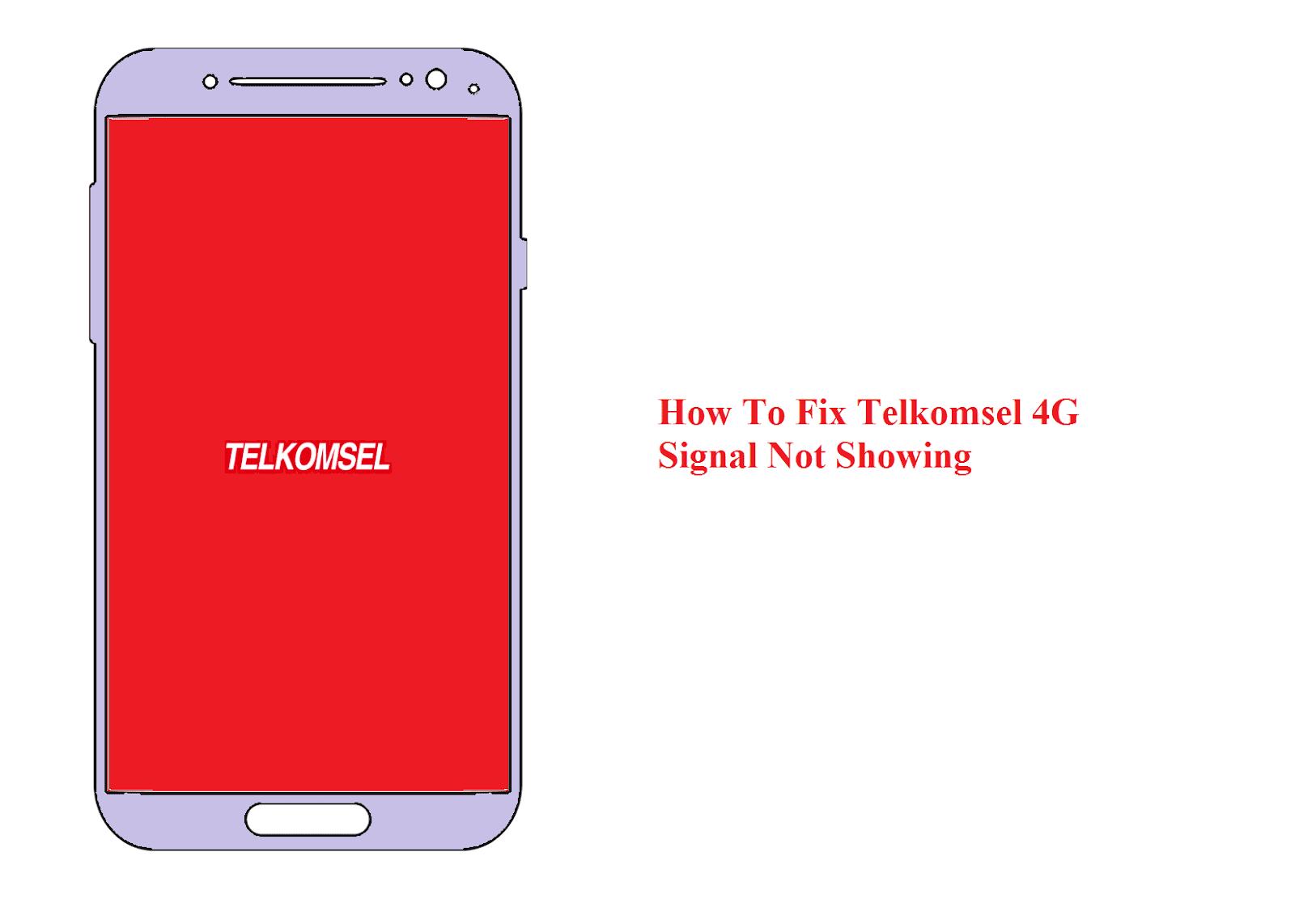 4G telkomsel tidak keluar