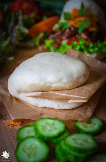 Bao Burger mit Hackfleisch