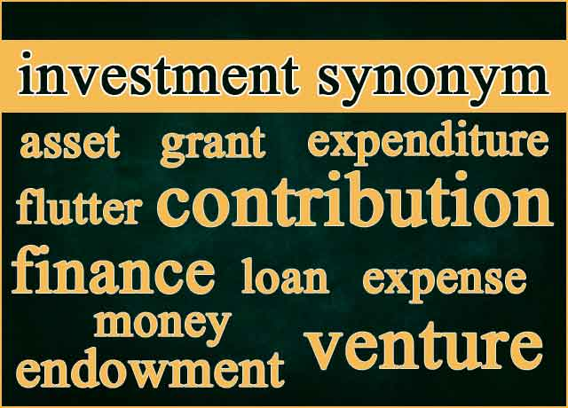 330 Best Investment Synonym and Similar Words