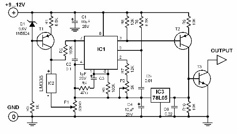 celcius-to-frequency-converter-circuit