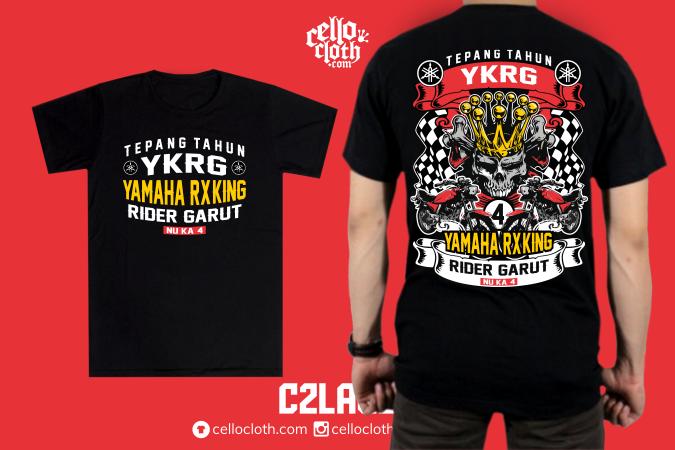 Kaos RX King Anniversary - Contoh Desain Kaos Sablon Rubber Plastisol