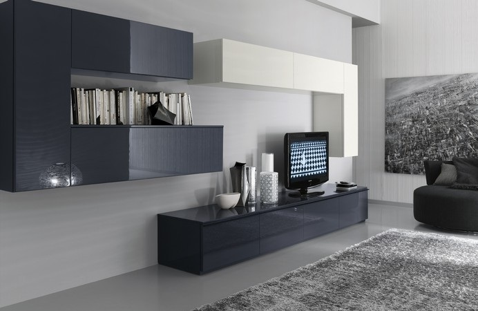 Furniture interior design compositions by modern for Color tabacco mobili