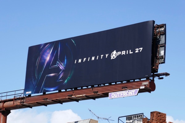 Avengers Infinity War movie teaser billboard