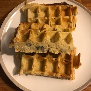 Gaufres au fromage blanc et graines de courge sans huile ni beurre