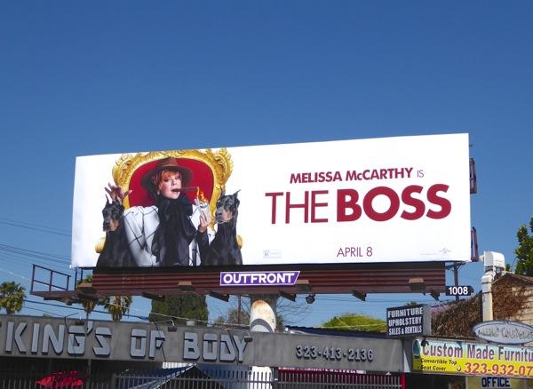 The boss movie billboard