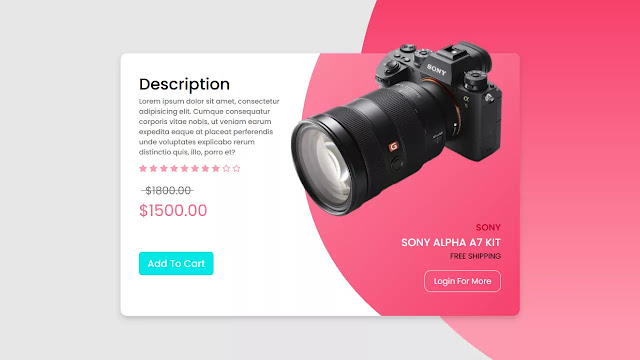 Ecommerce Product Card using HTML & CSS