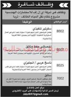 وظائف بالجرائد السعودية الاحد 6/1/2019 7
