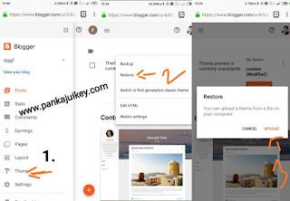 Blogger me custom template kaise lagaye, website kaise banate hai