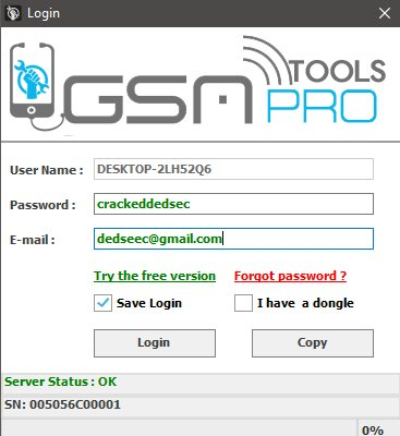 GSM Tool Pro Version 4.0 Cracked By DedSec