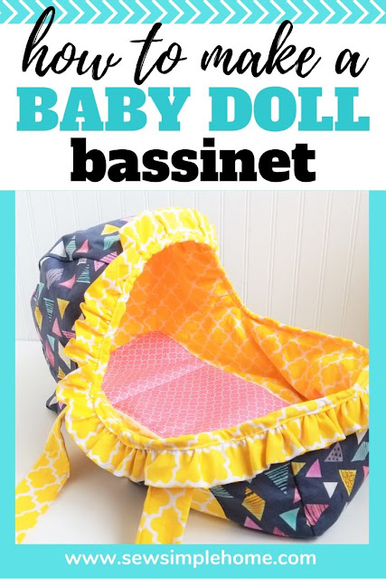 Use this baby doll moses basket pattern to create your own carrier for all those sweet baby dolls.