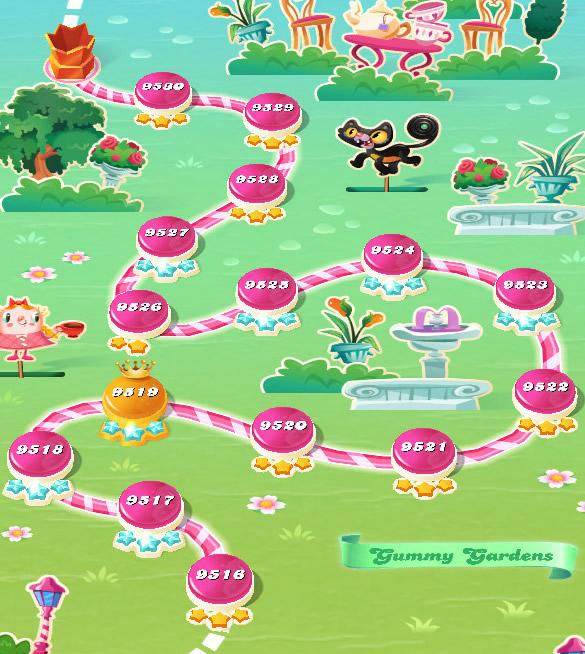 Candy Crush Saga level 9516-9530