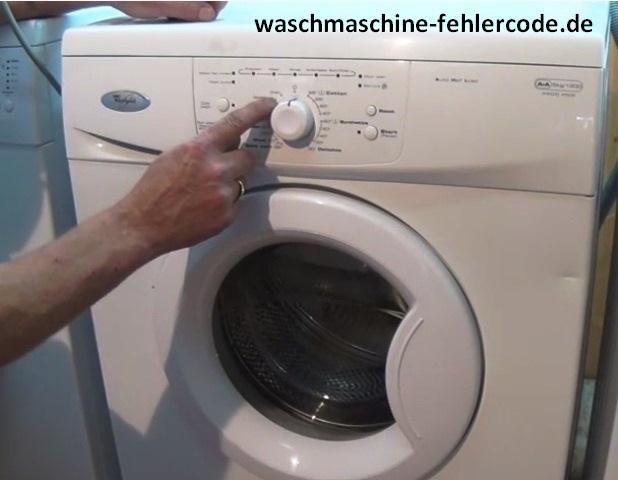 Privileg Washing Machine Error Code F06 - Gelöst
