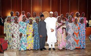President Buhari meets freed Chibok girls 6555