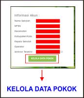 Klik Kelola Data Pokok Dapodikdasmen