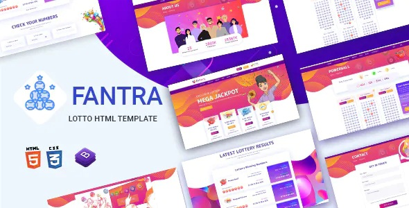 Best Online Lotto and Lottery HTML Template
