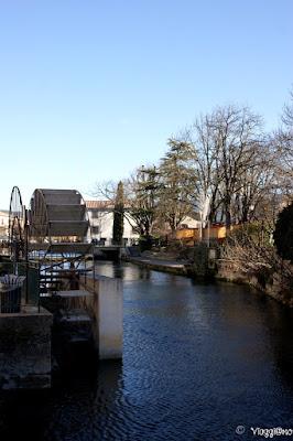 Una delle belle pale di mulini presenti lungo i canali