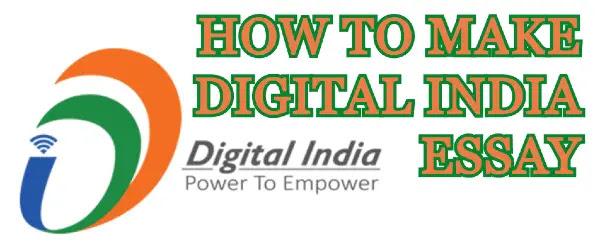 How to make digital India essay
