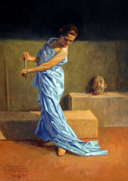 Judith beheading Holofernes by Dario Ortiz Robledo, Macabre Art, Macabre Paintings, Horror Paintings, Freak Art, Freak Paintings, Horror Picture, Terror Pictures
