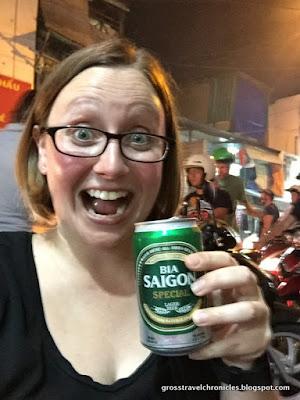 beer selfie