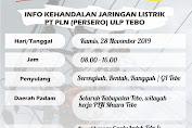 PLN Lakukan Jadwal Pemadaman Listrik di Tebo, Ini Alasan